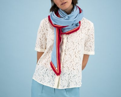 POM Amsterdam shawl Sky Blue