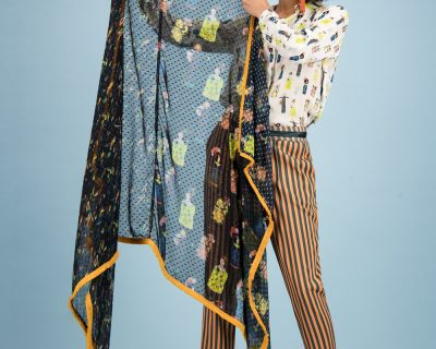 POM Amsterdam shawl Lucky Charms Dark by Katja