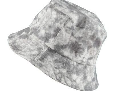 Bucket Hat Grey Batik