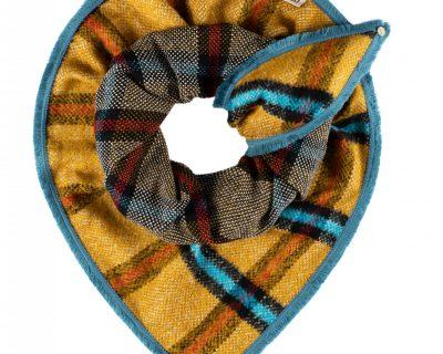 POM Amsterdam shawl CHECKS GOLDEN AMBER