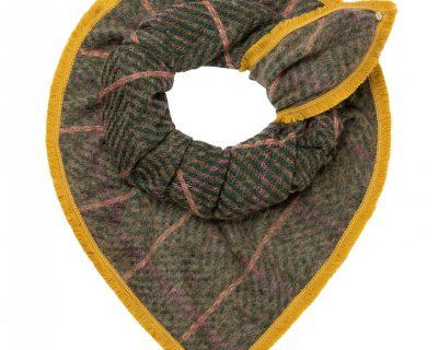 POM Amsterdam shawl BLOCKED KHAKI GREEN